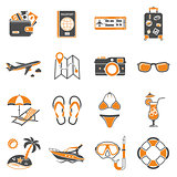 Vacation and Tourism Icons Set