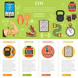 Fitness and gym infographics