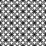 Black and white seamless vector pattern.