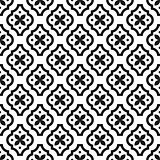 Black and white classic seamless vector pattern.