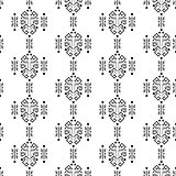 Mayan style ornament seamless vector pattern.