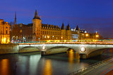Conciergerie at night, Paris, France