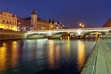 Conciergerie at night, Paris, France