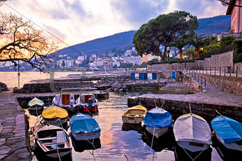 Town of Opatija small harbor
