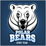 Polar Bear Head mascot - vector illustration