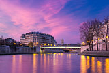Ile de la Cite at sunset, Paris, France