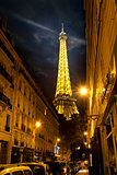Eiffel Tower and street