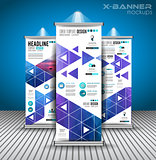 Set of Advertisement roll up business flyers or brochure x-banners