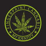 Fingerprint cannabis-marijuana
