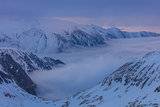 Fagaras Mountains in winter, Romania