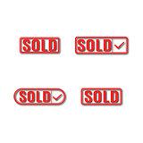 A set of label sold, vector illustration.