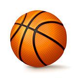 Realistic Basketball Isolated on White Background Illustration