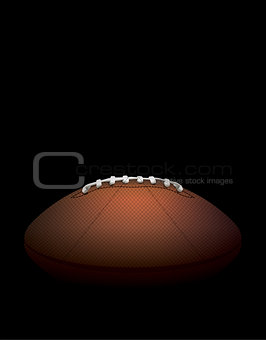 American Football Ball on a Dark Shadow Background Illustration