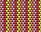 Valentines Hearts Pattern Background Illustration