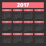 calendar 2017 template