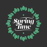 Spring time badge