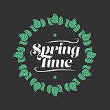 Spring time badge