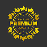Golden premium logotype