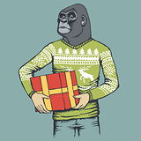 Monkey gorilla vector illustration