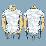 Vector blue t-shirts templates