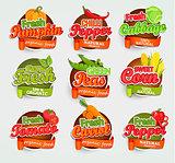 Vegetables logo, vector.