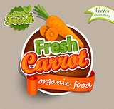 Fresh carrot logo.
