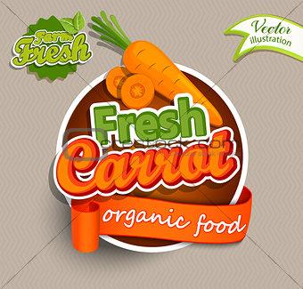 Fresh carrot logo.