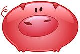 Pig cartoon icon