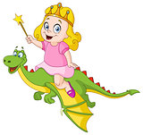 Princess riding dragon
