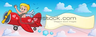 Airplane with Cupid theme image 2