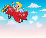 Airplane with Cupid theme image 4