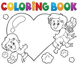 Coloring book Cupid topic 1