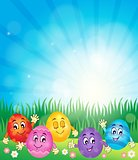 Happy Easter eggs theme image 1