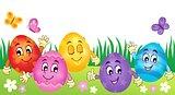Happy Easter eggs theme image 3