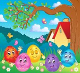 Happy Easter eggs theme image 4