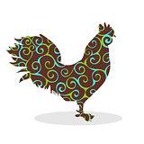 Cock Vintage silhouette pattern bird
