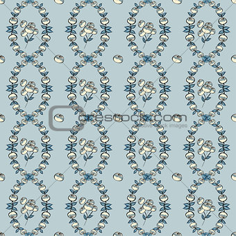 Abstract Berries seamless pattern.