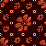 Abstract flower seamless pattern background.