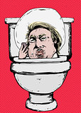 Furious Donald Trump Yelling in Toilet