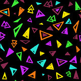 Seamless pattern with colorful triangles