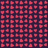 Seamless texture with hearts