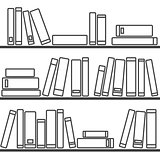 Tile vector pattern with  books on the shelf