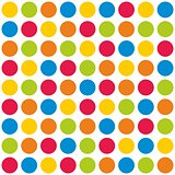 Tile polka dots vector pattern on white background