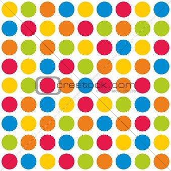 Tile polka dots vector pattern on white background