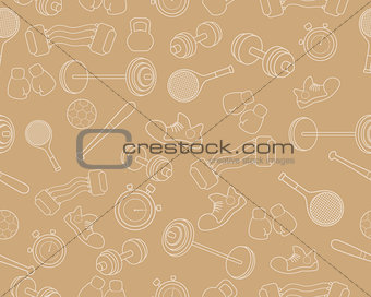 Background with sports equipment