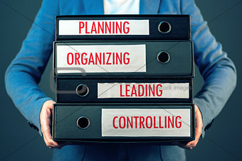 Four basic functions of management process in business organizat