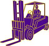 Forklift Truck Mono Line