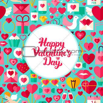 Flat Valentines Day Greeting