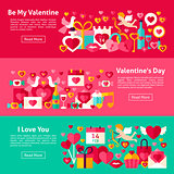 Happy Valentine Day Web Banners
