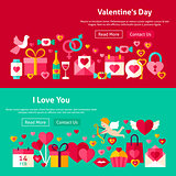 Happy Valentine Day Website Banners